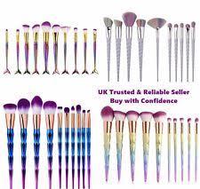 unicorn brush sets. 10 pcs pro mermaid unicorn diamond make up brushes set powder foundation contour brush sets