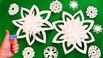 Снежинки из бумаги своими руками фото поделки