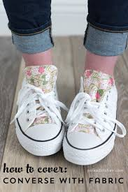 Fun Converse Designs How To Customize Converse With Fabric The Polka Dot Chair