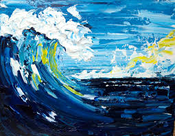 Good Vibrations Pallet Knife Wave Beginner Acrylic Painting Tutorial  Abstract https://www.