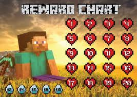 Minecraft Sticker Chart Reward Charts Page 2 The Little Black Duck