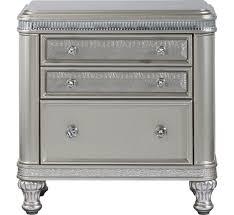 hefner silver  drawer nightstand  badcock more