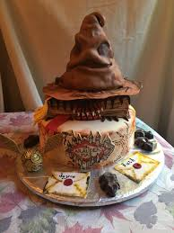 Homemade Harry Potter Birthday Cake With Butter Beer Cake And Icing