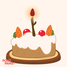 Happy Birthday Cake Gif By Pokopang Find Share On Giphy