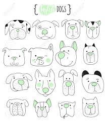 dog pictures to print. Unique Pictures Set Of 16 Cute Dogs Doodle  Sketch Dog Dog Handmade Dogs Print For To Pictures P