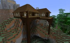 image of cool minecraft wood houses