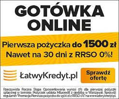 Łatwy Kredyt pożyczka 1000 zł na 30 dni bez opłat.