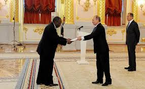 presentation by foreign ambadors of their letters of credence ambador of the republic of chad