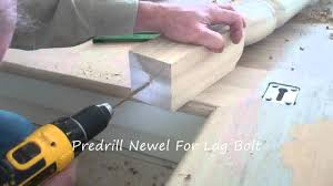 Build Newel Post How To Secure A Newel Post Youtube