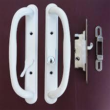 image of storm door handles lock