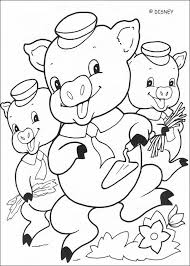Three little Pigs coloring pages - 18 free Disney printables for ...