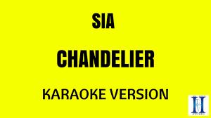 sia chandelier karaoke version
