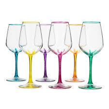 flower stemmed wine glasses set of 6