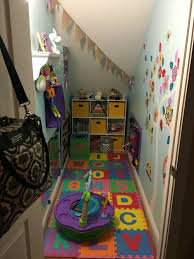 Pantry Under Stairs Baby Playroom Made From Closet Under Stairs Rozalynn Pinterest