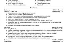 Objective Fornding Resume Best Jobnder Good For Bartending Bartender
