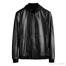 2018 2017 fall new mens luxury designer leather jacket removable mens winter leather jacket