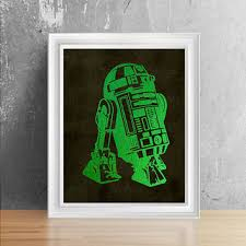>shop star wars nursery on wanelo shiny green foil r2d2 wall decor star wars girl room wall art