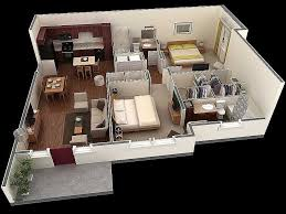 awesome modern 2 bedroom 1000 ft home design plans 3d with house