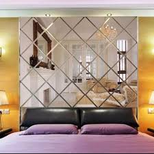 Mirror Design Wallpaper 3d Diamond Shaped Mirror Wallpaper Paste Wall Acrylic