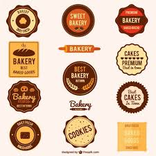 Set Of Bakery Vector Stamps Design Vector Free Bakery
