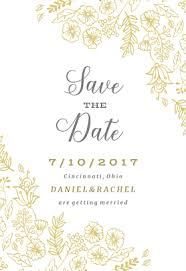 Save The Date Cards Template Elegant Flowers Save The Date Card Template Free In 2019