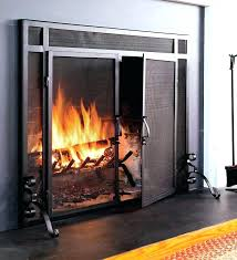 wood burning fireplace glass doors stove door in designs 7