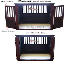dog crates furniture style. wooden dog crate french door style crates furniture