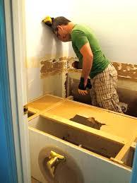 replacing bathroom vanity. Installing Vanity Top How To Replace Replacing Bathroom Stuck Master O