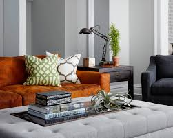 Orange Couch Living Room Orange Couch Photos Design Ideas Remodel And Decor Lonny