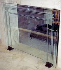 fireplace glass and screen doors