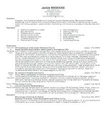 Administrative Support Resume Samples Best Administrative
