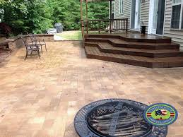 paver patio with deck. Contemporary Deck TechoBloc Paver Patio And Trex Deck Lorton VA To With