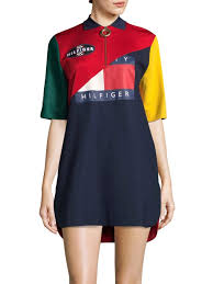 tommy hilfiger collection colorblock polo dress true red multi women s dresses day casual whole