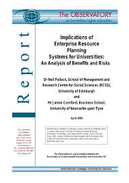 Implications Of Enterprise Resource Planning Systems For