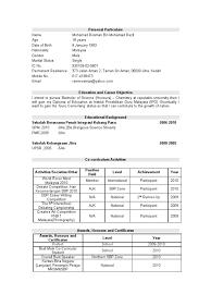 Resume Sample Malaysia Spm Resume Ixiplay Free Resume Samples