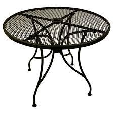 black round metal patio coffee table