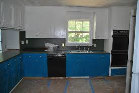painted kitchen cabinets with black appliances. Blue And White Kitchen Wall Cabinet With Black Appliances Marble Countertop For Ideas Painted Cabinets P