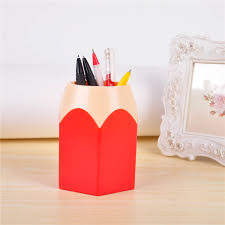 2017 home desk makeup brush vase pencil pot creative pen holder stationery tidy desk storage box high quality dn786 in storage bags from home garden on