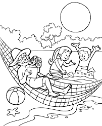 100 page coloring bundle in my shop: Summer Hammock Printable Coloring Page Topcoloringpages Net