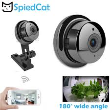 720P Wide <b>Angle 180</b> Degree VR <b>Mini</b> Wireless WIFI <b>Infrared</b> Night ...
