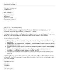 cover letter for fresher mca sample cashier cover letter