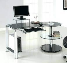 modern glass office desk. Contemporary Glass Office Desk Modern Desks Glacier Home .
