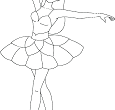 Coloring Pages Ballet Dancer Coloring Pages Dance Ballerina Swan