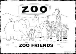 coloring book zoo lovely printable for toddlers