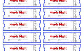 Best Of Movie Ticket Template Best Sample Excellent Recommendation