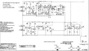 vox solid state schematics dynamic bass foundation and super foundation bass preamp