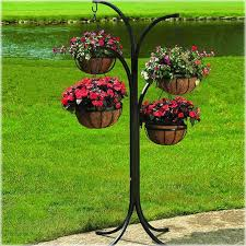 hanging wall planters home depot amazing new hanging basket planter wrought iron free standing lawn