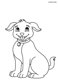 Dogs coloring pages for kids. Dogs Coloring Pages Free Printable Dog Coloring Sheets