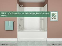 installation sterling ensemble or advantage bath showers