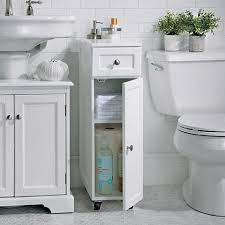 Weatherby Rolling Bathroom Storage Cabinet